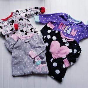 Fleece Footsie Pajamas - 12 Months